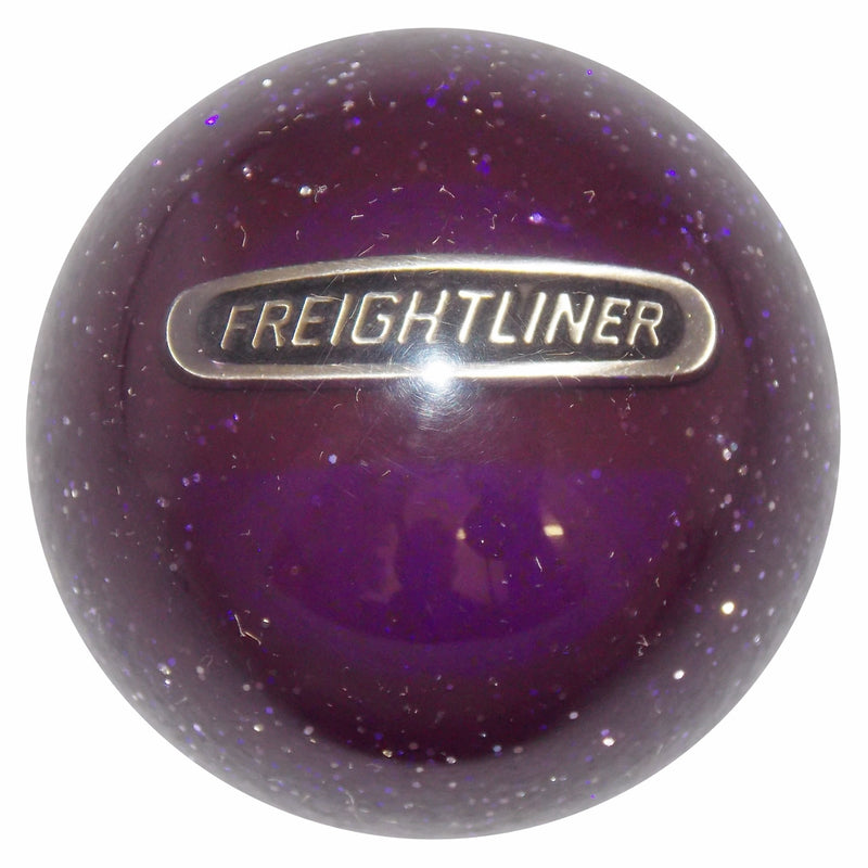 Purple Glitter Freightliner Shift Knob