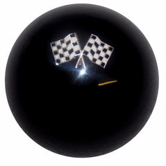 Checkered Flags Black Shift Knob