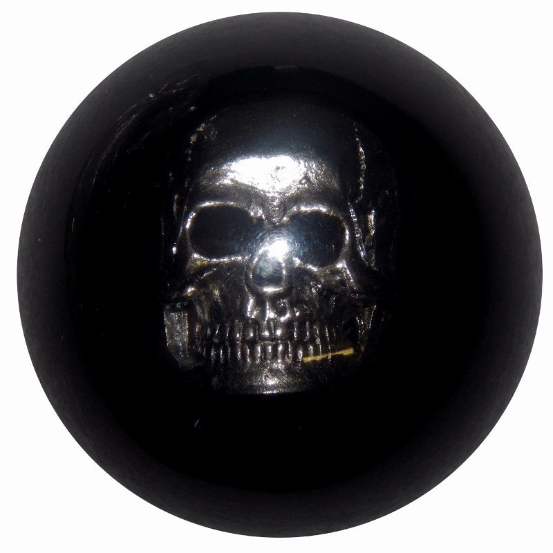 Chrome Skull Black Brake Knob