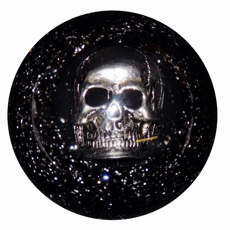 Black Glitter Skull Shift Knob