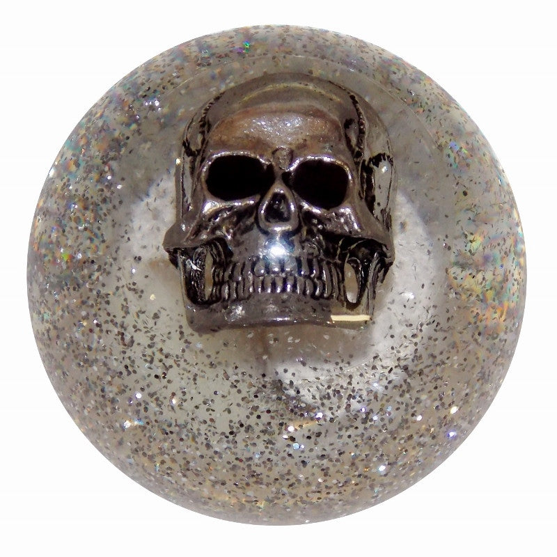 Clear Glitter Skull Shift Knob