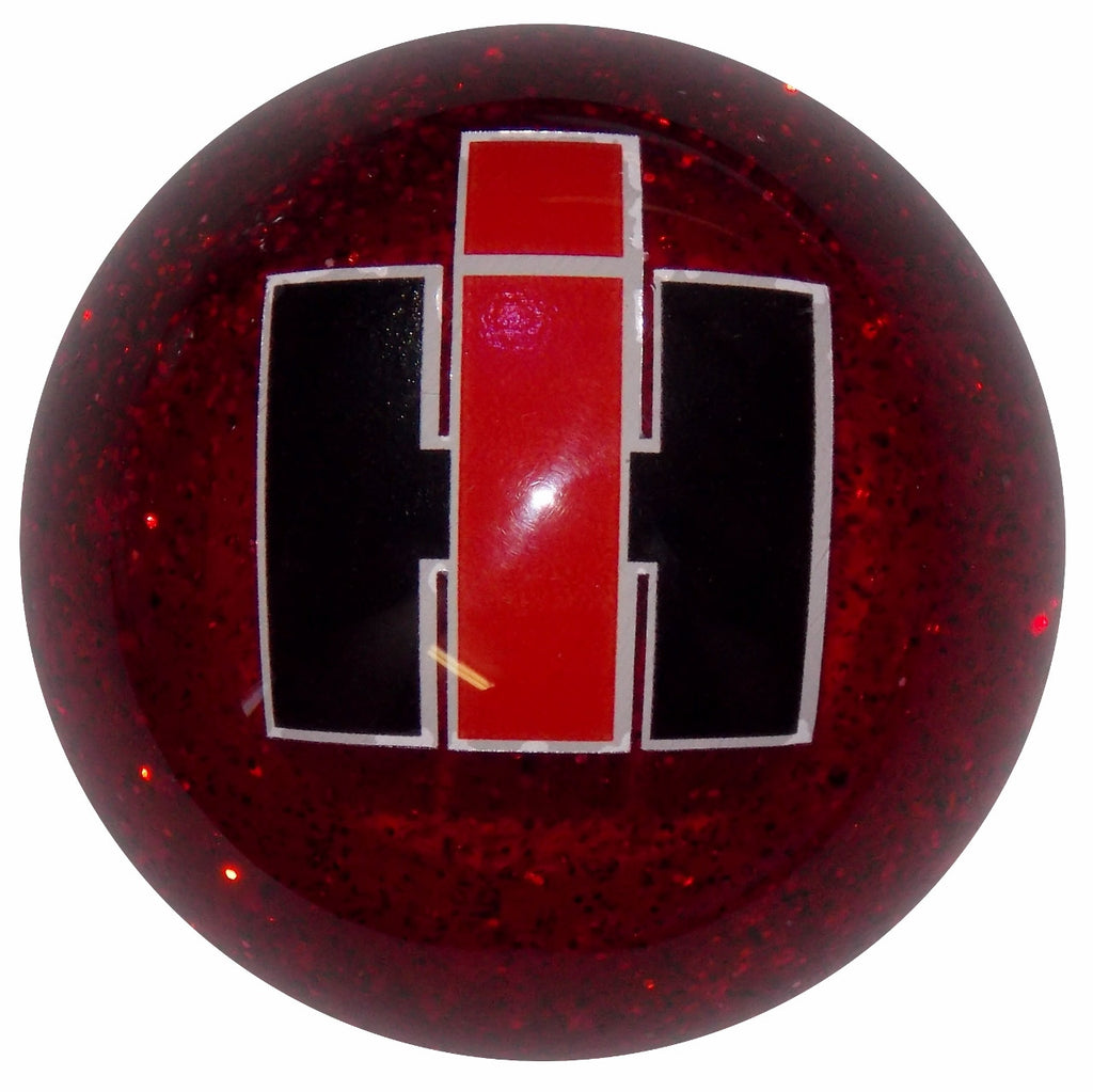 International Red Glitter Shift Knob