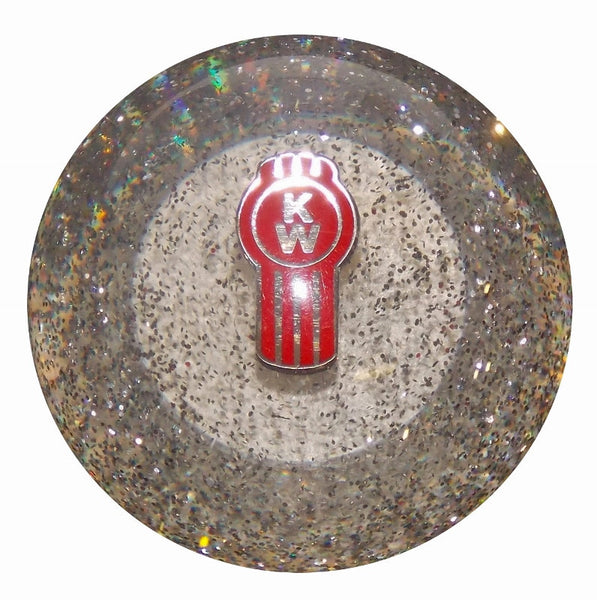 Clear Glitter Kenworth Brake Knob