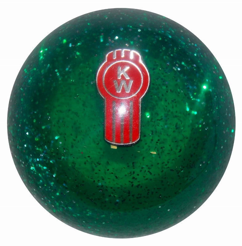 Green Glitter Kenworth Brake Knob
