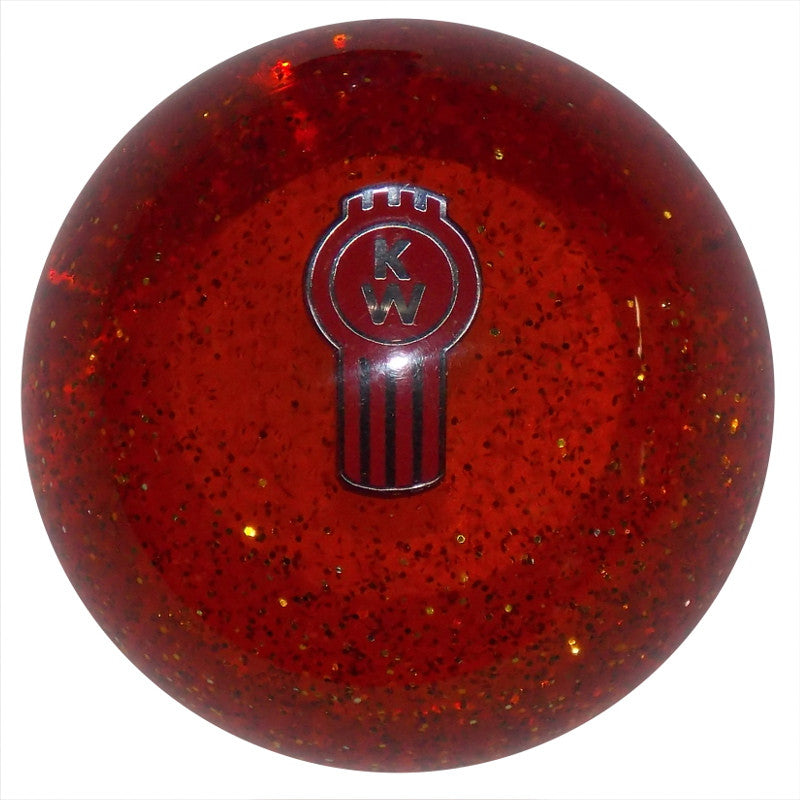 Orange Glitter Kenworth Shift Knob