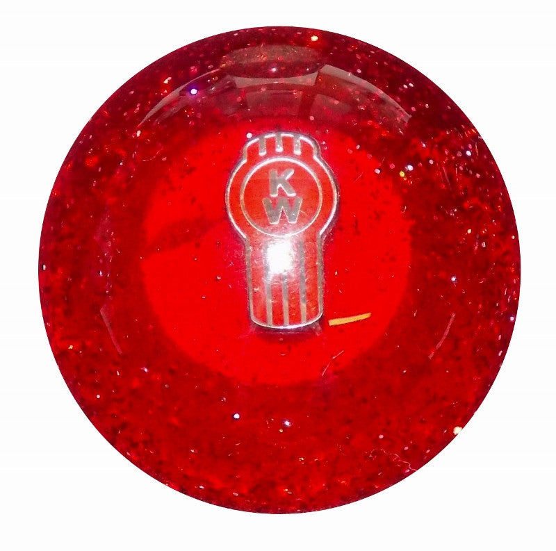 Red Glitter Kenworth Brake Knob