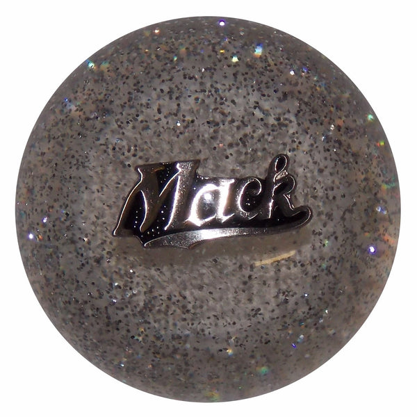 Mack Script Clear Glitter Shift Knob