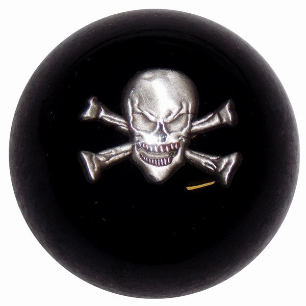 Skull and Crossbones Black Brake Knob