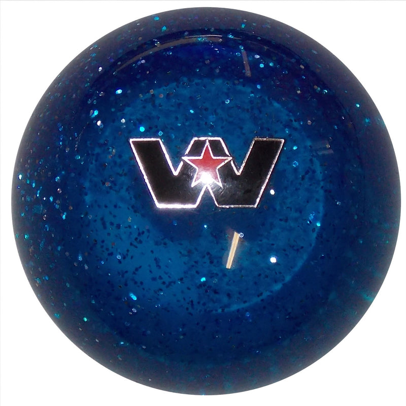 Western Star Logo Blue Glitter Shift Knob