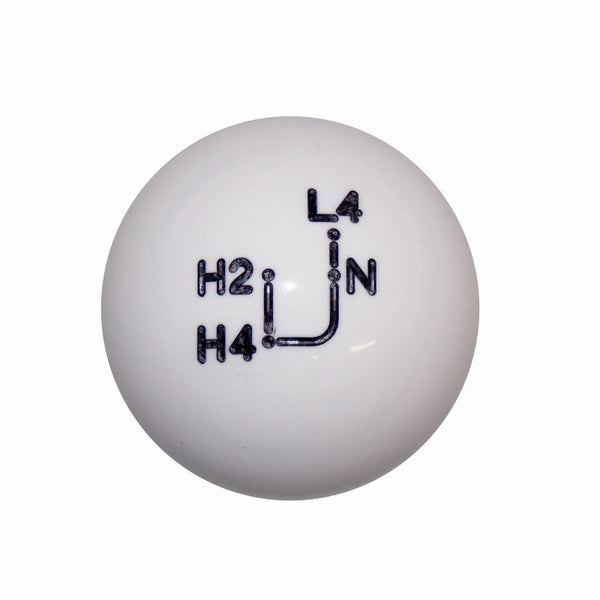 "1-7/8"" White Toyota 4 wd Shift Knob"