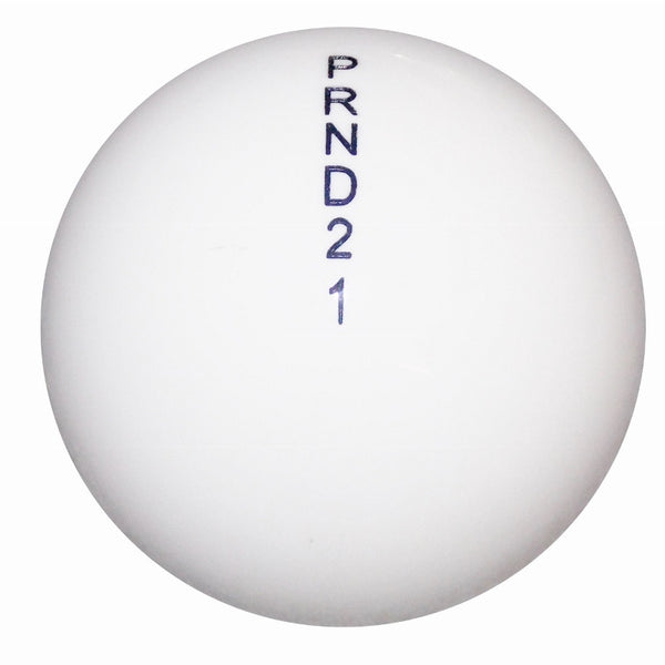 Round White Auto D21 Shift Knob