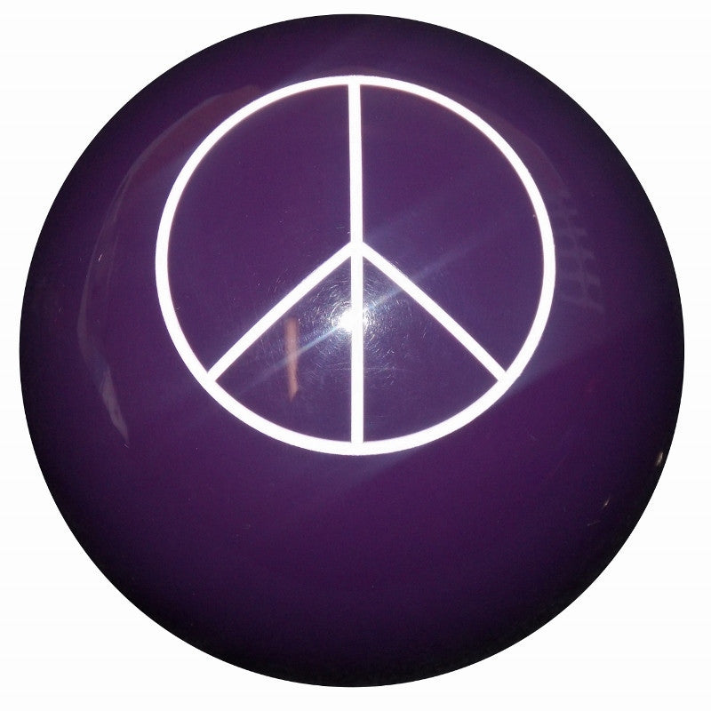 Purple Peace Sign Brake Knob