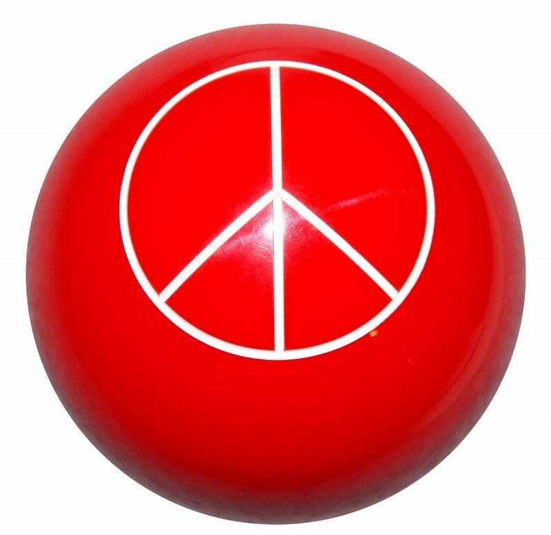 Red Peace Sign Brake Knob