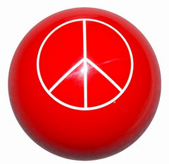 Red Peace Shift Knob