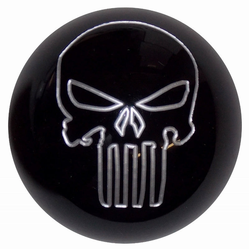Black w/ silver Punisher Skull Brake Knob