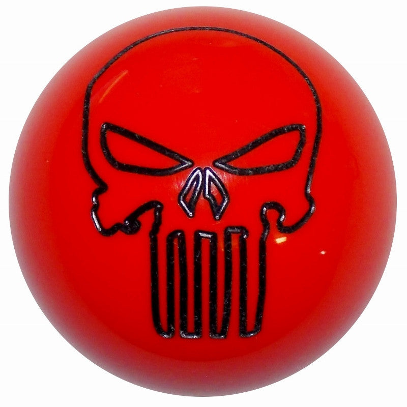 Dark Orange Punisher Skull Brake Knob
