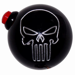 Black Punisher Skull Side Button Shift Knob