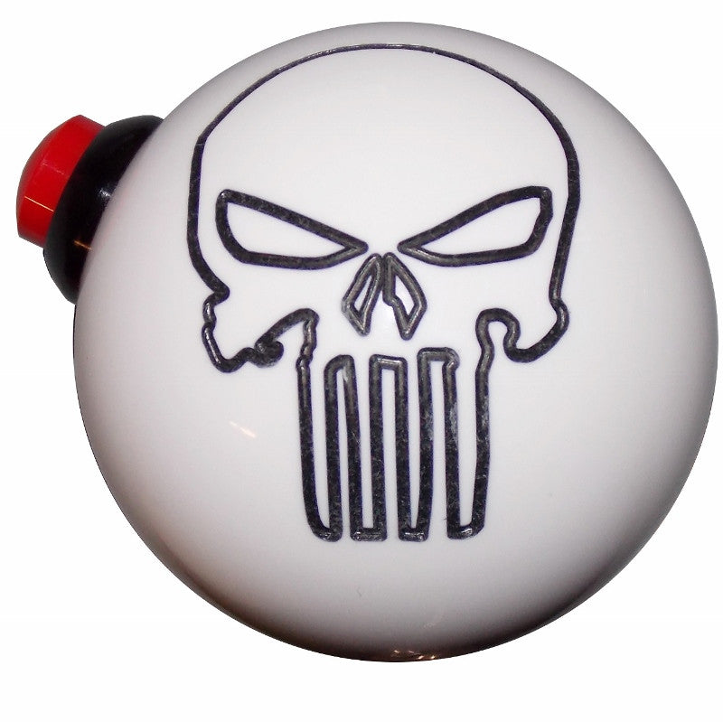 White Punisher Skull Side Button Shift Knob