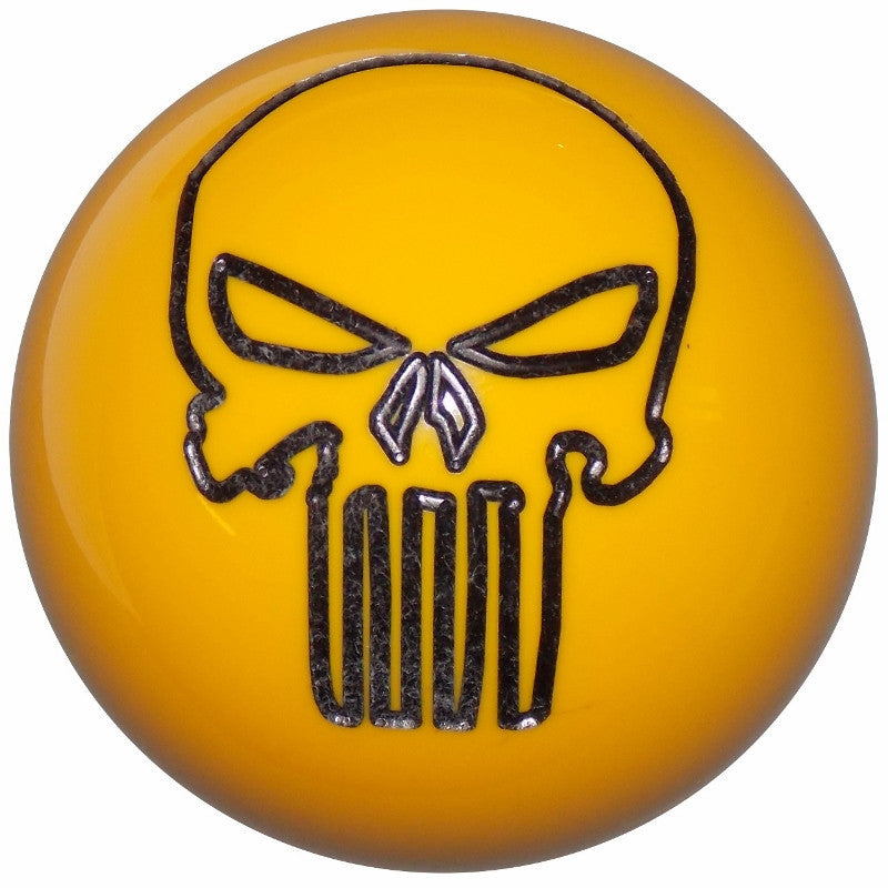 Punisher Skull Yellow Brake Knob