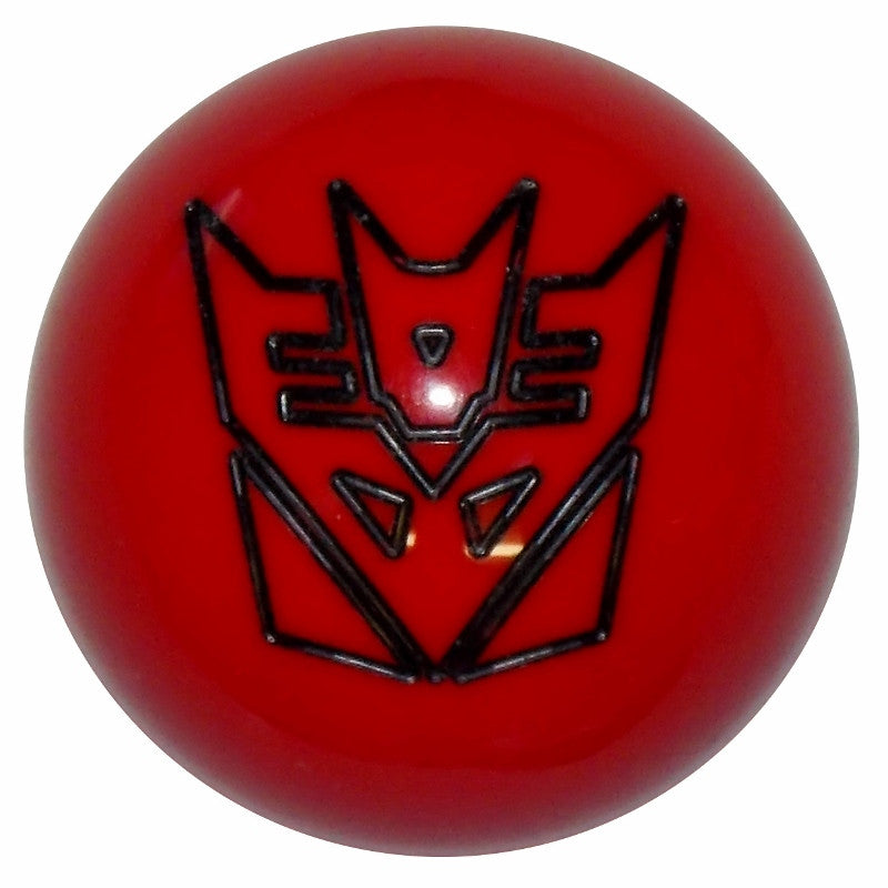 Red/ Black Decepticon Shift Knob