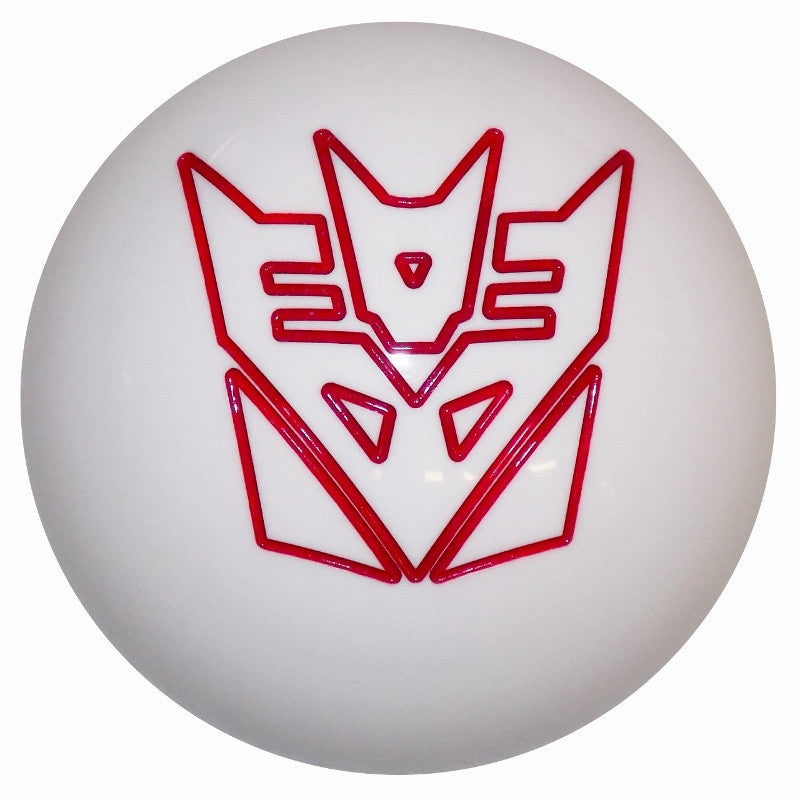 White Decepticon Engraved Brake Knob