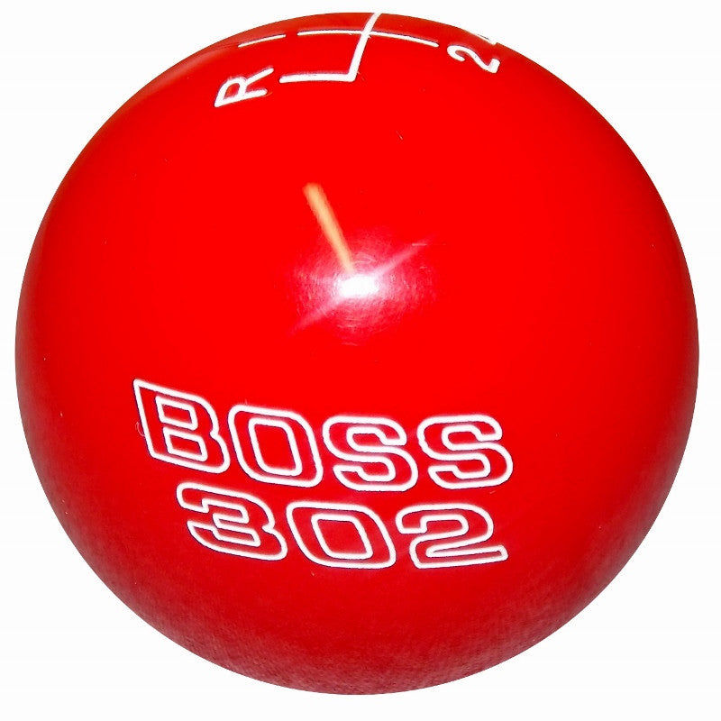 Red w/ White Mustang Boss 302 Logo New 6 Speed Shift Knob