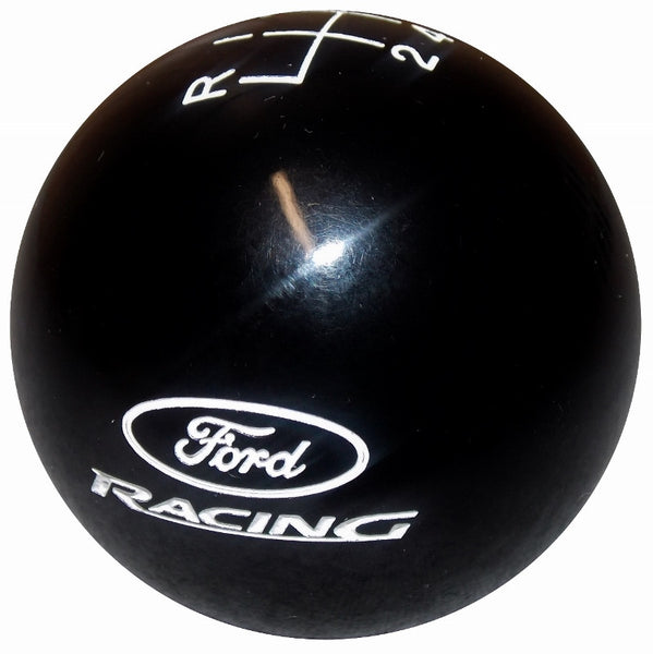 Black Mustang Ford Racing Logo New 6 Speed Shift Knob