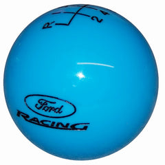 Grabber Blue w/ Black Ford Racing Logo New 6 Speed Shift Knob