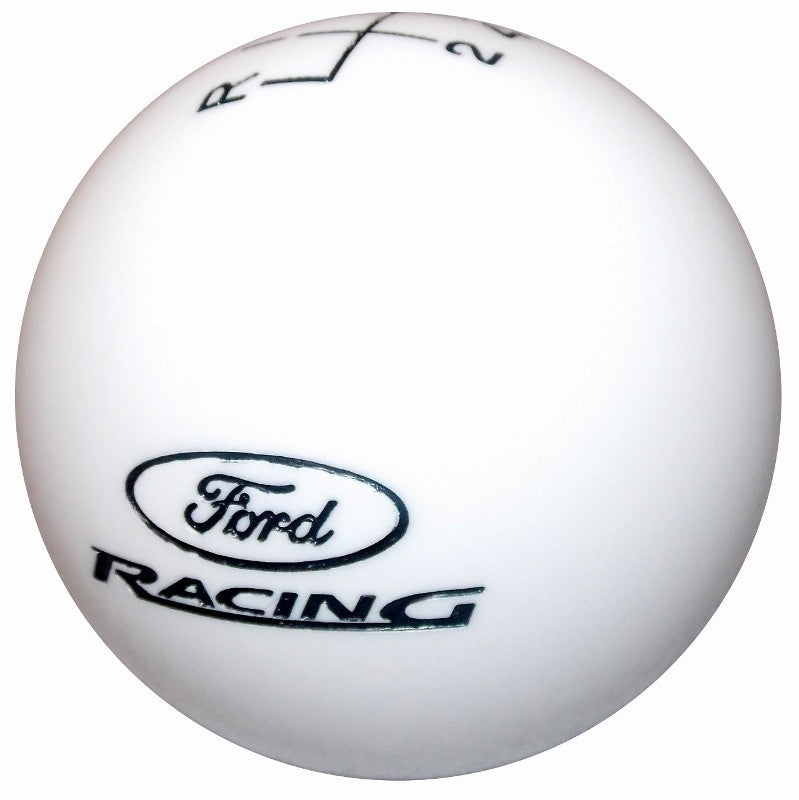 White Ford Racing Logo New 6 Speed Shift Knob