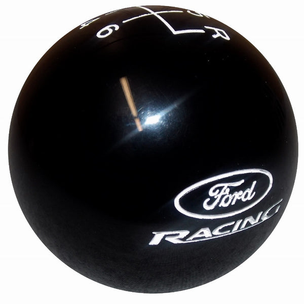 Black Ford Racing Logo 6 Speed Shift Knob