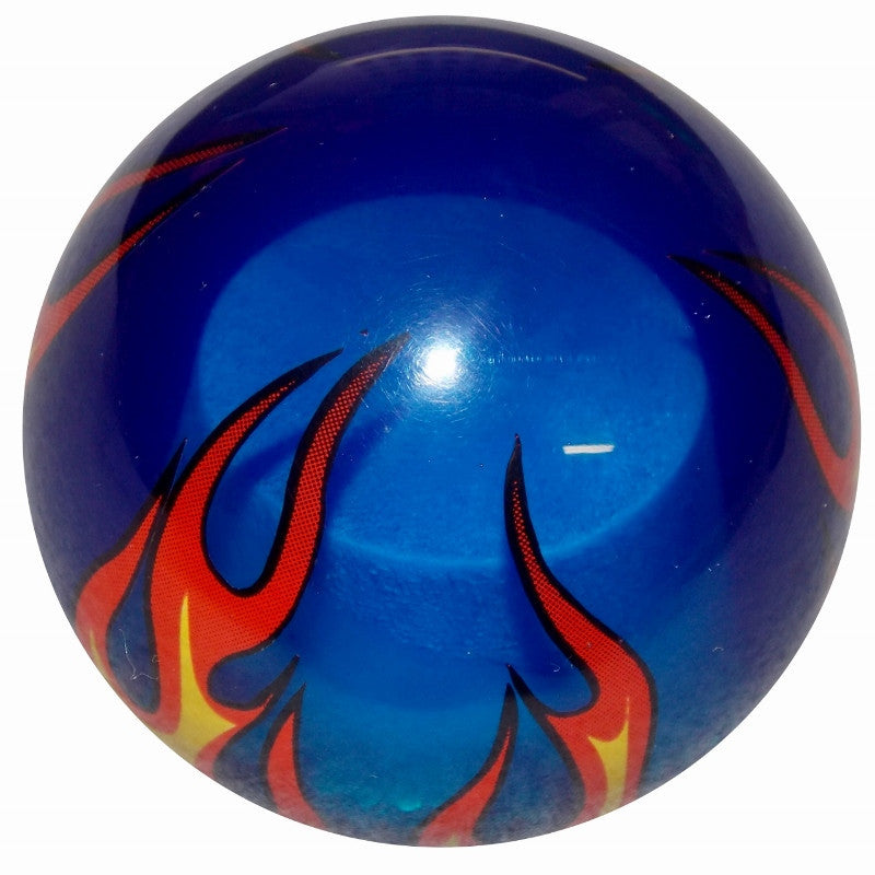 Clear Blue Flamed Brake Knob