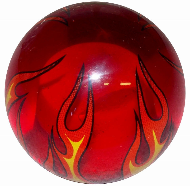 Clear Red Flame Brake Knob