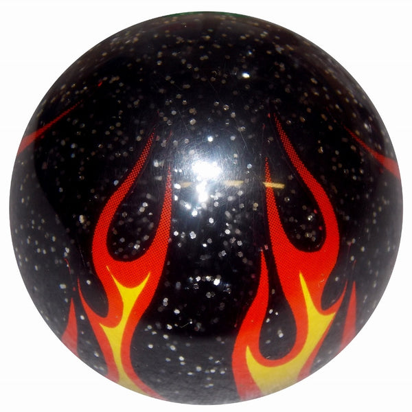 Black Glitter Flame Shift Knob