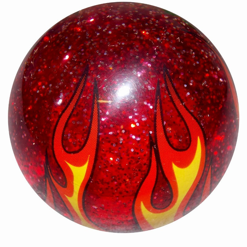 Red Glitter Flame Shift Knob