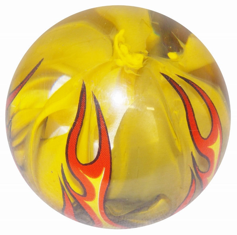 Smoky Yellow Flamed Brake Knob