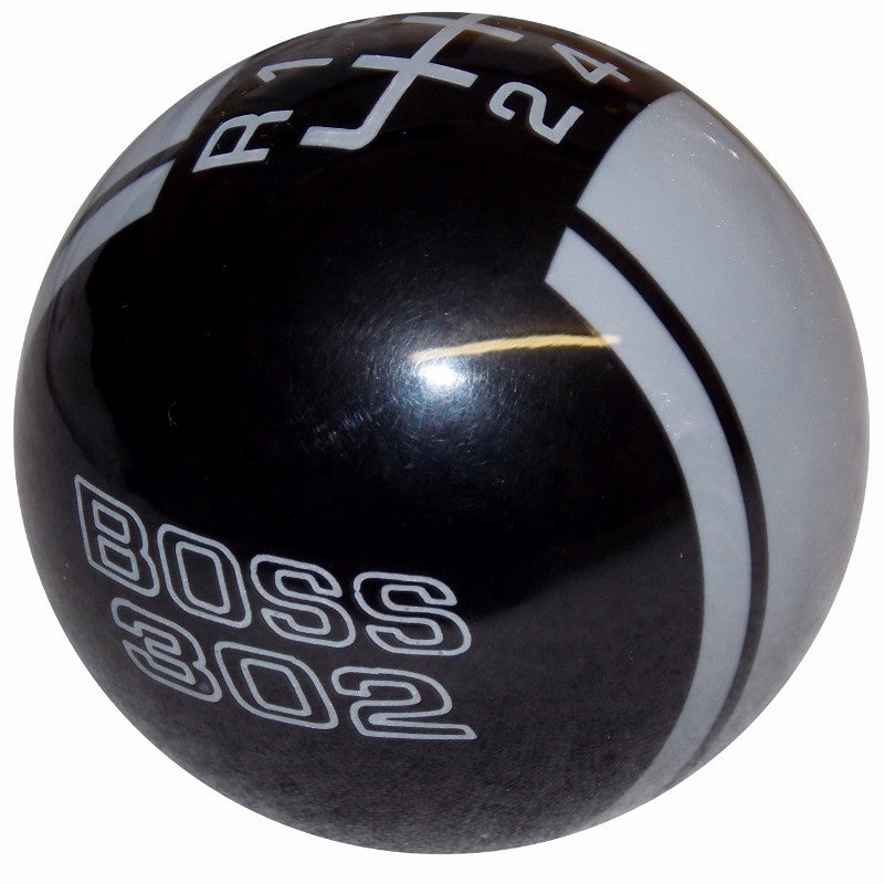 Ford Rally II Mustang Boss 302 Logo Black/ Pearl Gray New 6 Speed Shift Knob