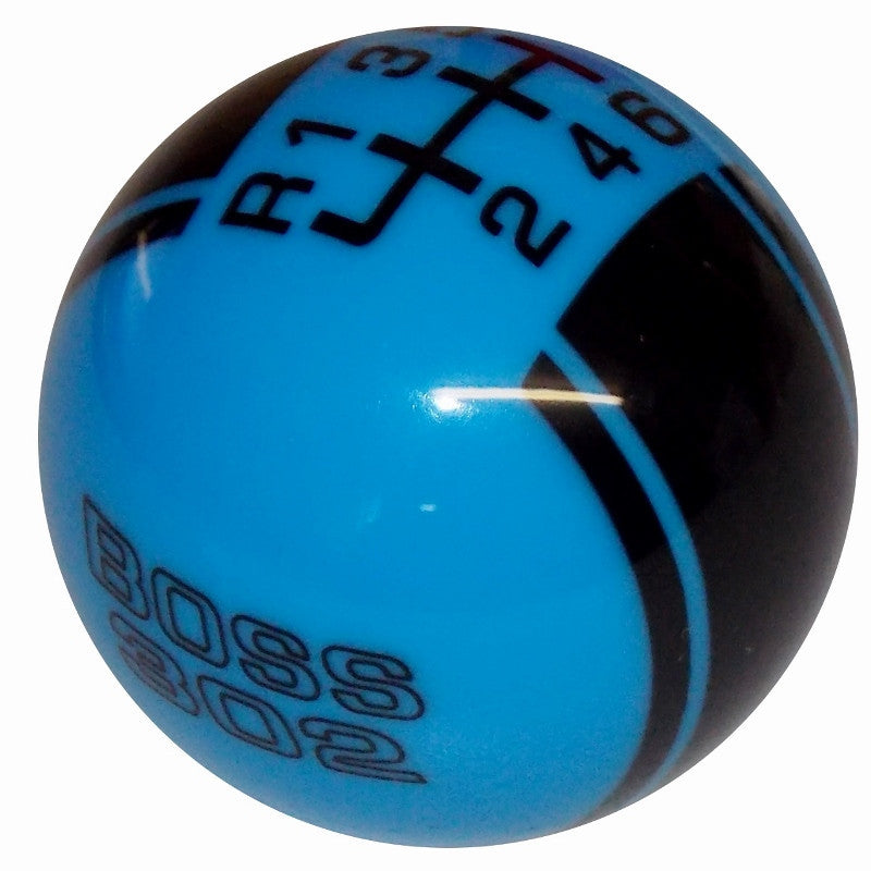 Ford Rally II Mustang Boss 302 Logo Grabber Blue/ Black New 6 Speed Shift Knob