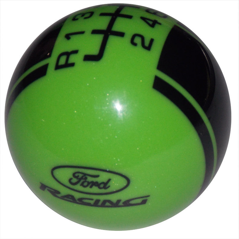 Ford Rally II Ford Racing Logo Metallic Gotta Have It Green/ Black New 6 Speed Shift Knob