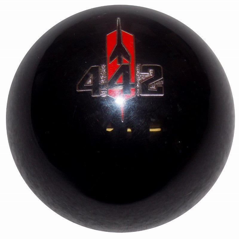 Black 442 Rocket Emblem Shift Knob