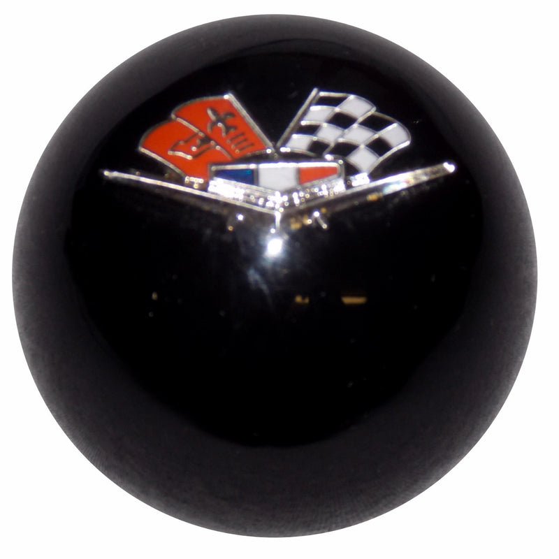 Black Chevy Flags Emblem Shift Knob