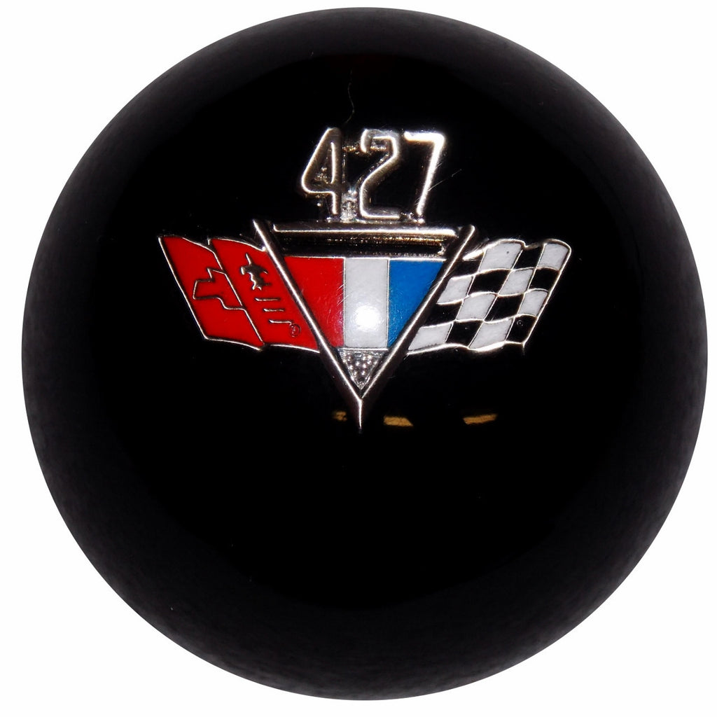 Black 427 Flags Emblem Shift Knob