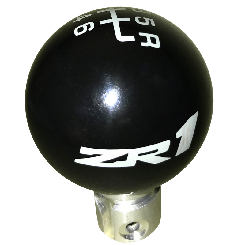 image of 2013 up Camaro Black ZR1 Logo 6 Speed Reverse Up Right Shift Knob