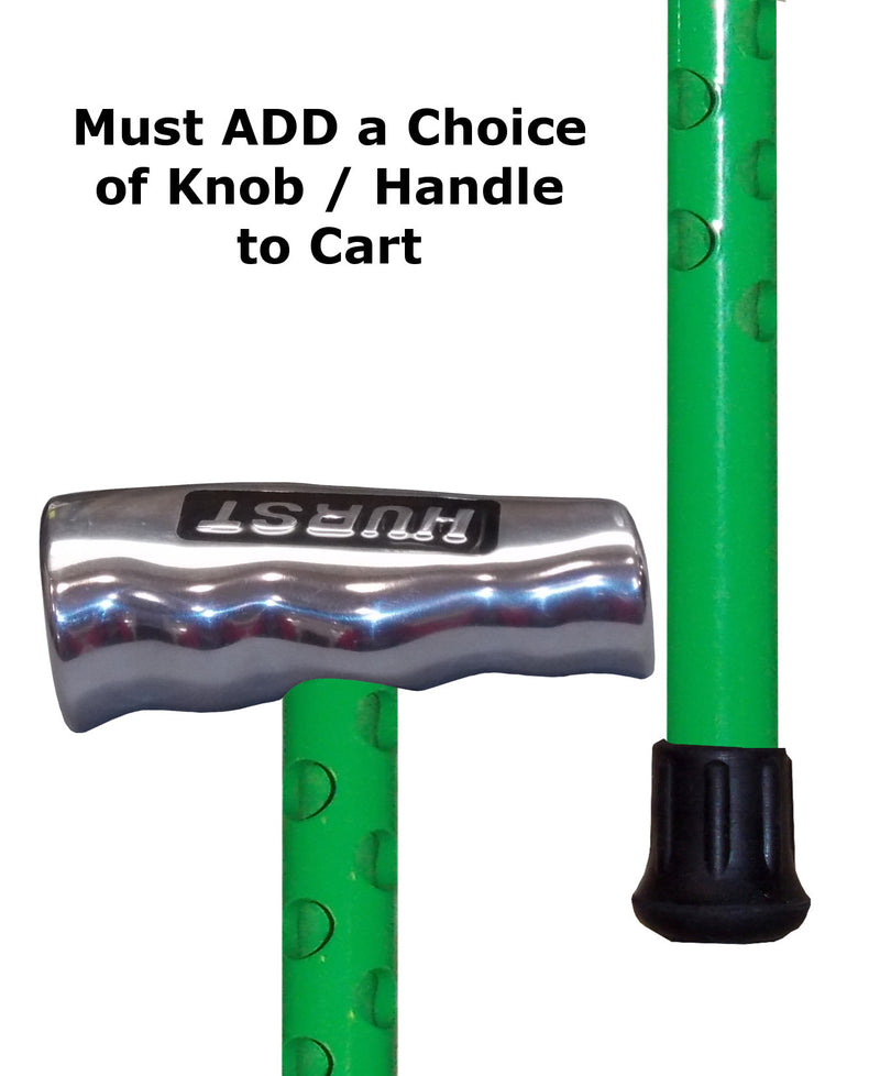 Custom Sublime Green 'Ventilator' Aluminum Heavy Duty Cane