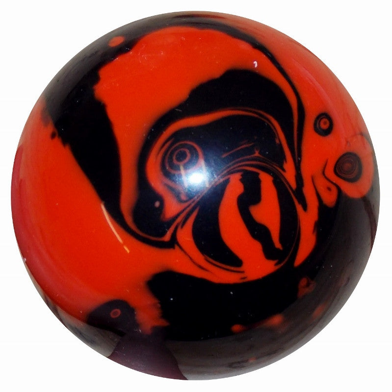 Marbled Black & Orange Brake Knob