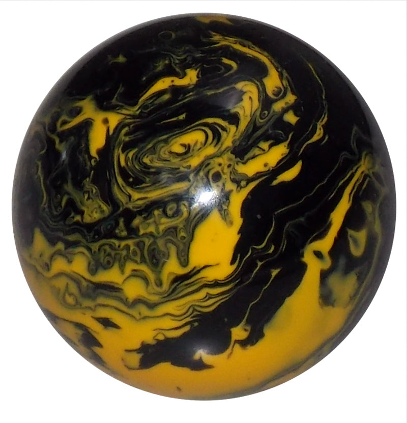 Black and Yellow Marbled Brake Knob