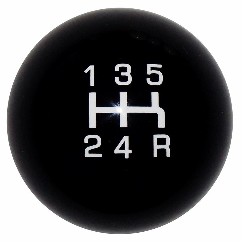 Qualifier Black with White 5 Speed Shift Knob