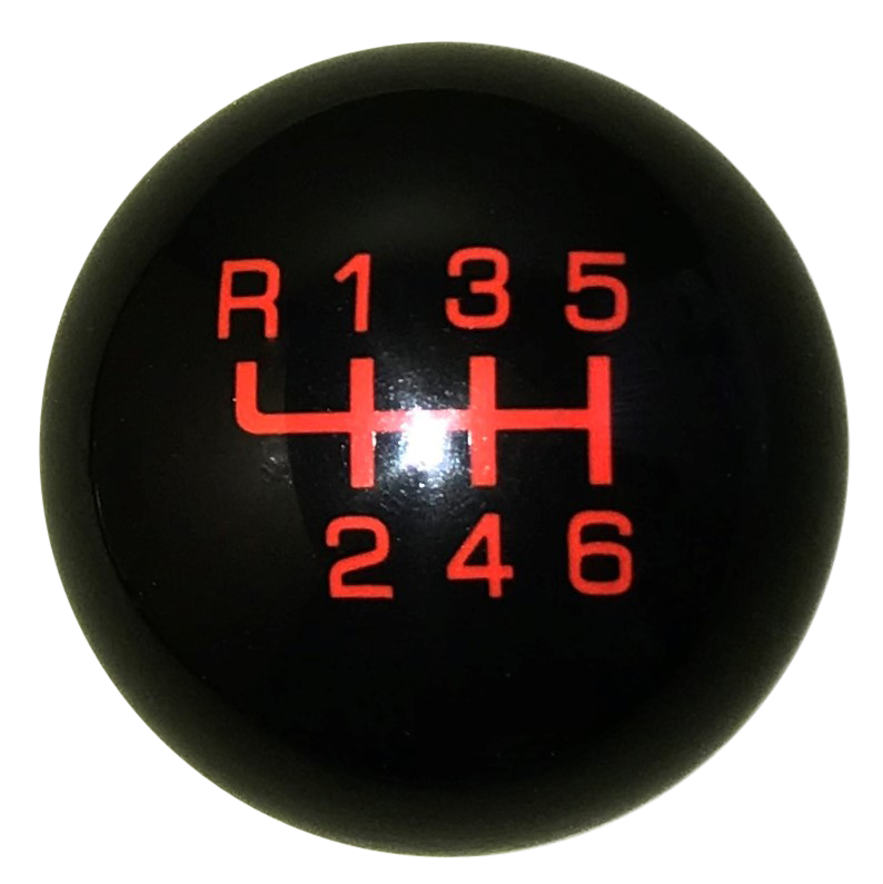 image of Qualifier Black With Red 6 Speed Reverse Up Left Shift Knob