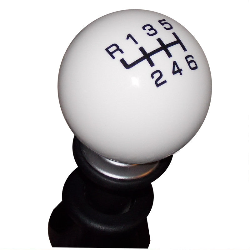 Qualifier White BRZ 6 Speed Pattern Shift Knob