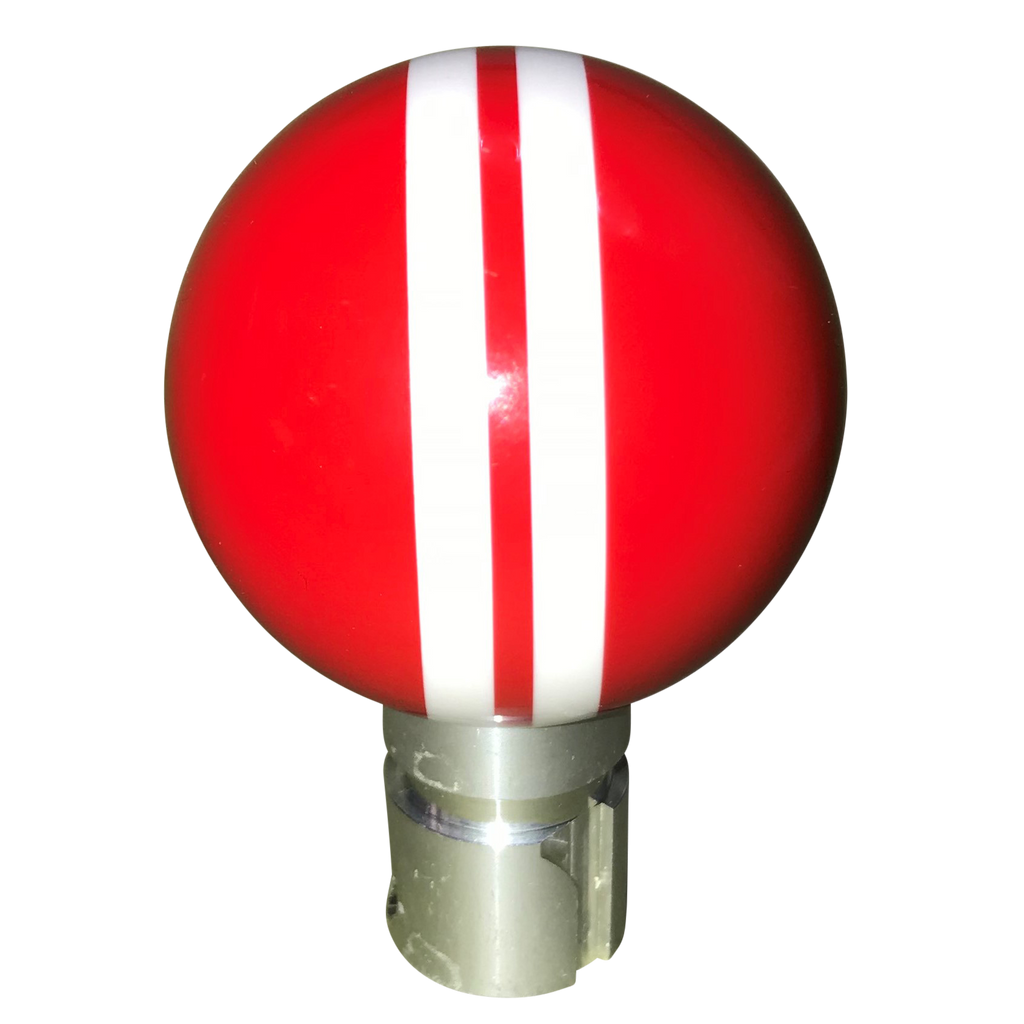 image of 2013 up Camaro Red with White Rally Stripes 6 Speed Shift Knob