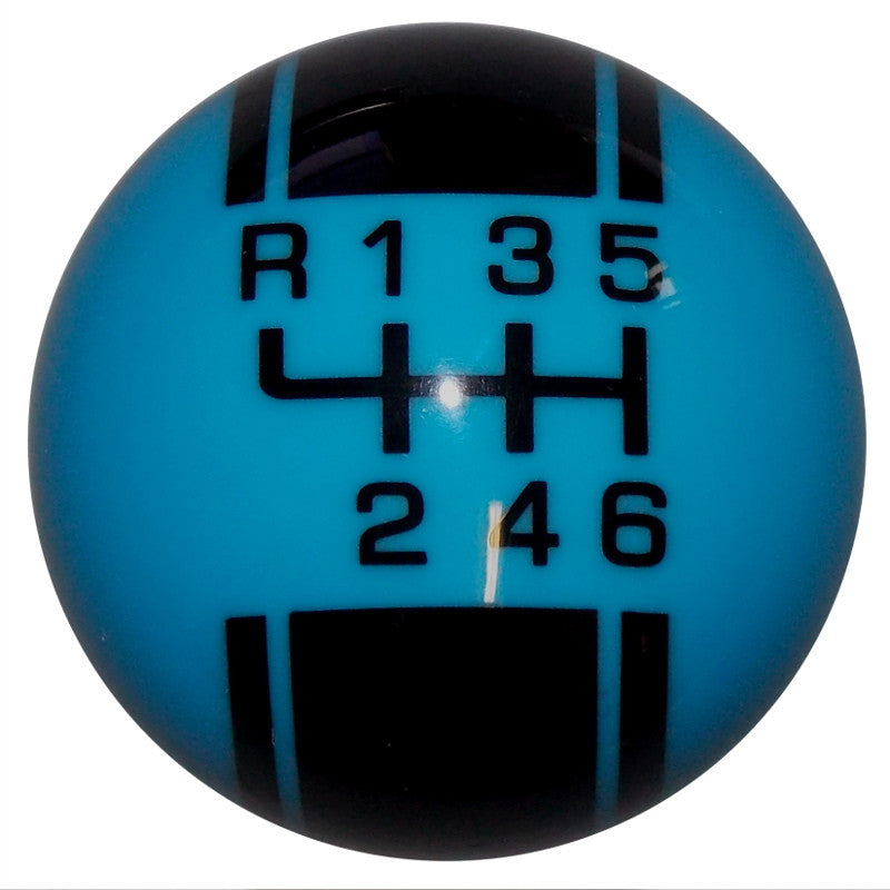 Rally II New 6 Speed Grabber Blue Shift Knob